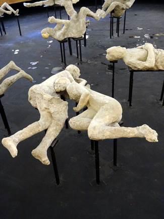 Les vestiges de Pompéi offrent de nombreux témoignages du drame.